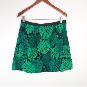 Banana Republic Tropical Monstera Leaf Mini Skirt